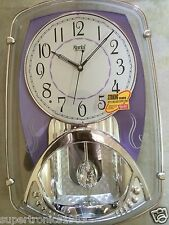 Ajanta Modern Pendulum Number Wall Clock glass clock 12 Alarm type rich look