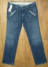 "Women's Authentic Diesel Junnie Denim Jeans 31"" x 34"" New With Tags"