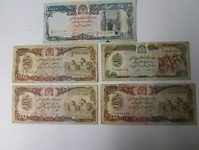 5 Bank of Afghanistan Bank Notes ~ 500/1000/10000 Afghanis