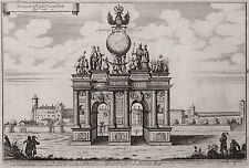 Merian: Sardagna: Trento Trient Der vordere Theil der Triumph Porte 1663