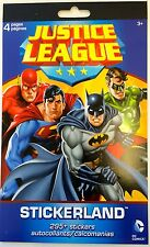 295 DC Comics Justice League Stickers Party Favors Superman Batman Reward Chart