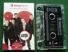 Boyzone When the Going Gets Tough Comic Relief Cassette Tape Single - TESTED