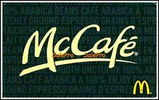 McDONALD COFFEE 2014 SMOOTHIES CHICKEN NUGGETS BILINGUAL COLLECTIBLE GIFT CARD