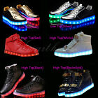 High Top LED Light Lace Up Unisex Sportswear Sneaker Luminous Shoes Casual