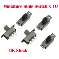 10 X Mini Miniatura On/On 6 Pin Interruptor Deslizante Interruptor DPDT