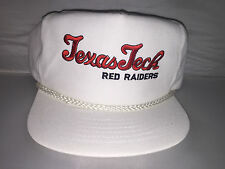 Vtg Texas Tech Red Raiders Strapback hat NCAA College Football 90s nwot script
