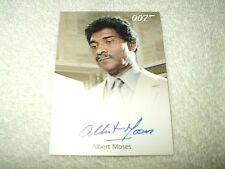 James Bond Movie Autograph Card Albert Moses as Sadruddin in Octopussy