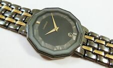 Lassale by Seiko Black & Gold Tone Stainless 7N29-5C40 Sample Watch NON-WORKING