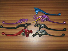 MIXTURE OF COLOURED ANODISED MOTORCYCLE CLUTCH/BRAKE LEVERS MAKES UNKNOWN
