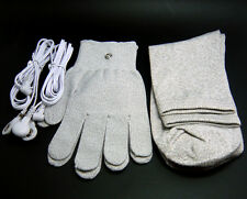 Conductive Electrode Massage Gloves & socks & Lead Wires For TENS/EMS Machines