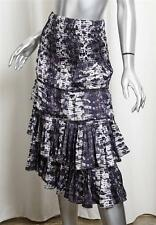 ISABEL MARANT H&M Purple Snake Print Tiered Ruffle Mid-Calf Long Skirt 34/4 NEW