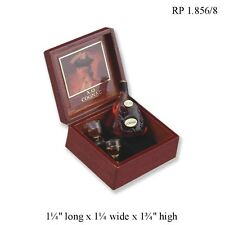 1:12 Scale Gentleman's Boxed XO Cognac Set REUTTER PORCELAIN
