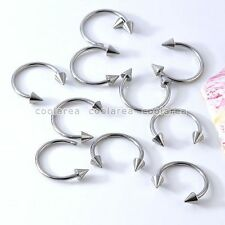 10pc Stainless Steel Silvery Spike Cone Screw Nose Rings Ring Hoop Body Piercing