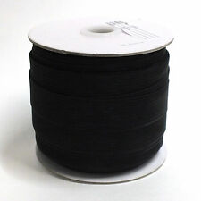 100% Polyester Horsehair Mesh Braid Boning, Crinoline,1 In, 72 Yd Black, Soft