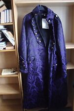Dark Star by Jordash heavy Brocade Military style coat DS/JK/7084 PURPLE XL