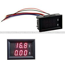 NEW Ammeter Gauge 10A LED Digital Volt Amp Voltmeter Dual 0-100V Red DC Panel