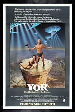 YOR THE HUNTER FROM THE FUTURE * CineMasterpieces ORIGINAL MOVIE POSTER 1983