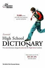 The Essential High School Dictionary (K-12 Study Aids) by Princeton Review