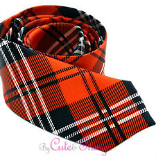 "Black Red Plaid Fashion  Necktie 3"" Tie Men's Necktie Checker Plaid"