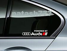 Powered by Audi Racing Sport S Line Window Decal sticker emblem logo WHITE/ Red
