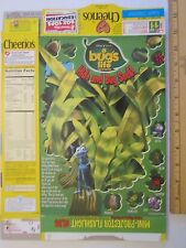 Empty GENERAL MILLS Cereal Box 1998 CHEERIOS 10 oz A BUG'S LIFE Series 68