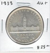 Canada 1939 Silver Dollar $1 Parliament AU+