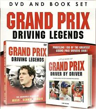 GRAND PRIX DRIVING LEGENDS DVD & BOOK SET  STIRLING MOSS AYRTON SENNA FANGIO F1