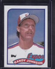 Randy Johnson 1989 Topps Baseball Rookie Card # 647 Montreal Expos HOFer MINT !