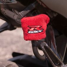 Small Red Brake & Clutch Reservoir Sock Cover Motorcycle Dirt Bike Oil GSXR