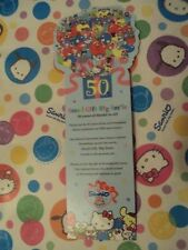 Sanrio Hello Kitty and friends My Melody,Chococat 50th Anniversary Bookmark 2010