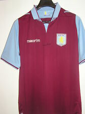 1982 European Cup Winner Kenny Swain Signed New Aston Villa 2012/13 Home Shirt
