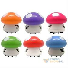 Portable Mini Mushroom Corner Keyboard Desk Table Dust Vacuum Cleaner Sweeper