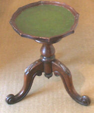 "Edwardian Mahogany Wine Table On Carved  Legs Base & Later Top  GC 16.5""H 11.5""D"