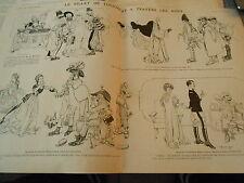 Le Billet de Logement à Travers les Ages Montluc Guerre 7 ans Print Art 1908