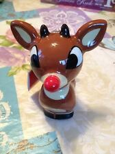 Rudolph the Red Nosed Reindeer 50 Years Christmas Ornament Figurine New RARE