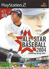ALL-STAR BASEBALL 2004 for Playstation 2 PS2 - with box & manual - PAL