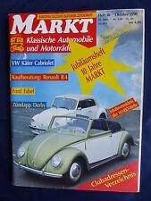VW Käfer Cabrio v. 1946 - Titel-Story auf 9 Seiten - Oldtimer Markt Heft 10/1990