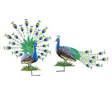 Peacock Garden Stakes - Set of 2, by Collections Etc