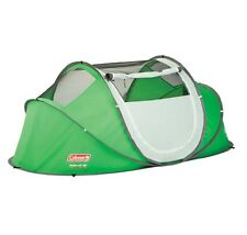Coleman 2 Person Pre-Assembled Easy Instant Pop Up Camping Tent w/ Taped Rainfly