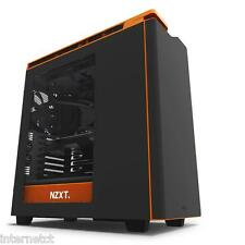 NZXT H440 BLACK ORANGE 2015 EDITION ATX GAMING USB 3 PC CASE  SIDE WINDOW & FANS