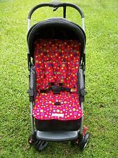 *RED,DOTS*universal stroller,pram,car seat liner set *NEW*