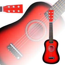 "New 23"" Beginners Practice Acoustic Red Guitar 6 String Children Kids"