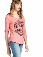 Lucky Brand - S - NWT - Pink Flock of Circles Top - Long Sleeve Tee/T-Shirt
