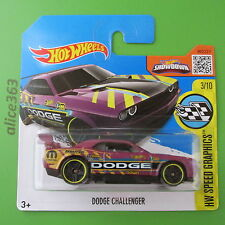 HOT WHEELS 2016 -  Dodge Challenger - Speed Graphics - 178 - neu in OVP