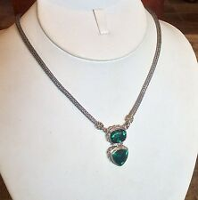 "SAMUEL BEHNAM ""BJC"" ARTISAN CRAFTED SILVER  GREEN QUARTZ 18"" NECKLACE RET $995"