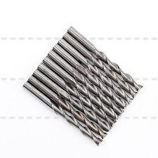 10Pcs/set 3.175 mm 12mm Double/Two Flute solid Carbide Spiral CNC Router Bit