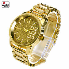Men's Hip Hop Fashion Analog Stainless Steel Heavy Metal Band Watches WM J2613 G