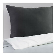 NEW Ikea SMALDUN Duvet Quilt Cover Set and pillowcase(s), gray/white Twin