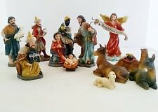 12 Piece Christmas Nativity Set Jesus Christ Statue Figurine Figure Religion
