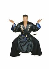 ADULT MENS JAPANESE SAMURAI SILK ROBE HALLOWEEN FANCY DRESS COSTUME - 42/44